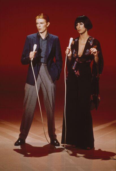 Стив Шапиро. Дэвид Боуи и Шэр. Лос-Анджелес, 1975