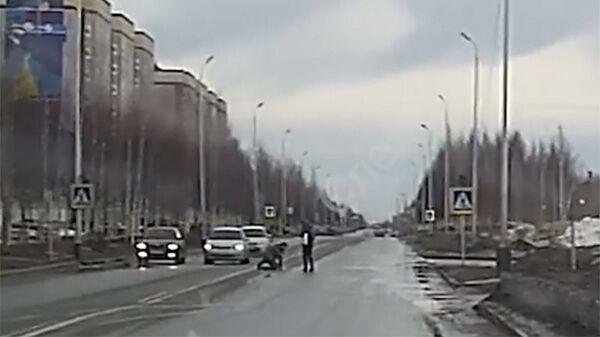 Сбитый на пешеходном переходе сотрудник ЛУКОЙЛа