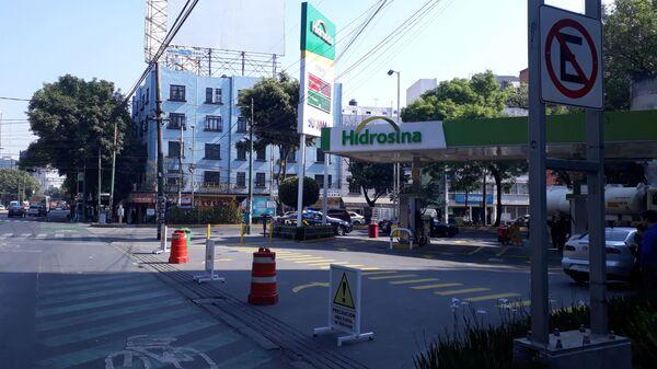 Закрытая заправка в Мехико из-за бензинового кризиса