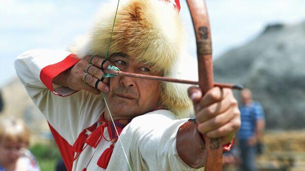 Участник фестиваля исторической реконструкции Пламя Аркаима