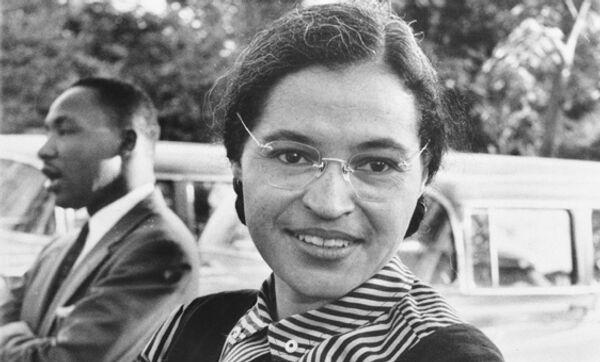 Американская общественная деятельница Роза Ли Паркс