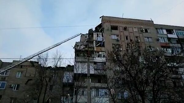 Кадры с места взрыва бытового газа в Ростовской области