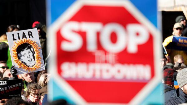 Митинг за прекращение шатдауна в Вашингтоне