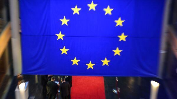 Флаг ЕС в здании Европейского парламента в Страсбурге