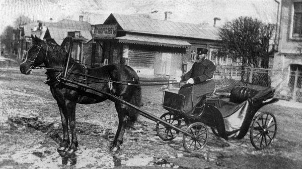 Извозчик-лихач. Дореволюционная Россия. 1900-е