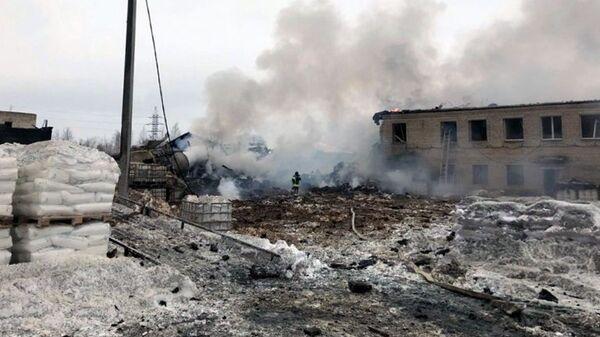Взрыв на химзаводе в Кингисеппе