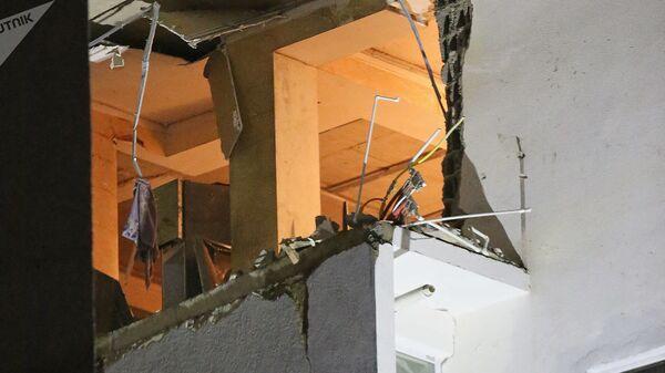 Многоэтажный дом в районе Диди Дигоми на окраине Тбилиси, где произошел взрыв газа