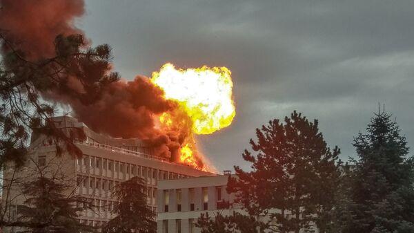 Пожар в кампусе университета в Лионе