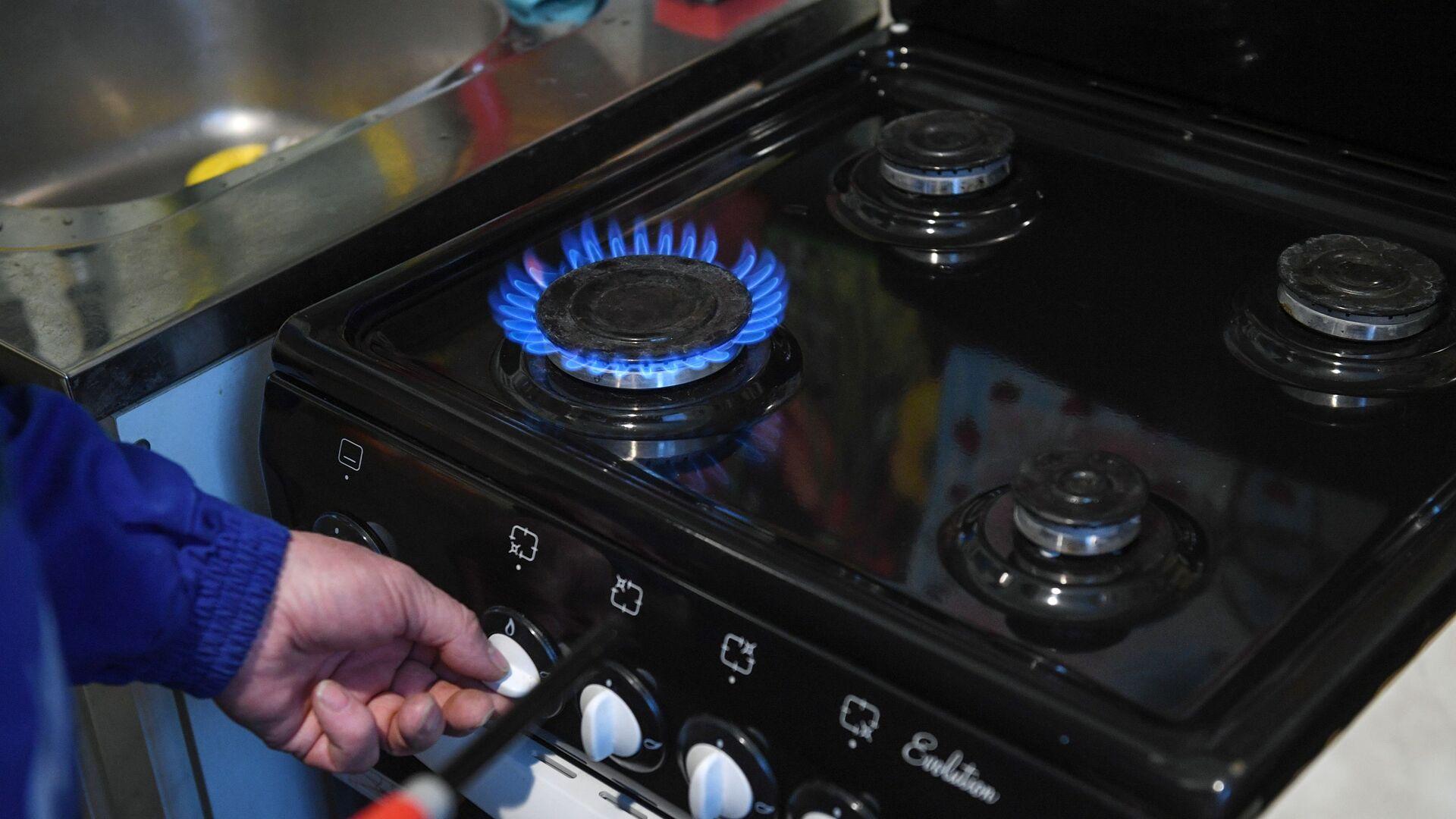 Специалист проводит техническое обслуживание внутриквартирного газового оборудования - РИА Новости, 1920, 22.03.2021
