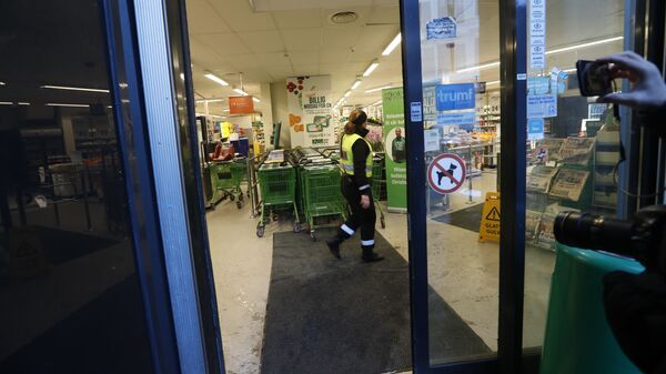 Супермаркет в Осло, в котором было совершено нападение на женщину