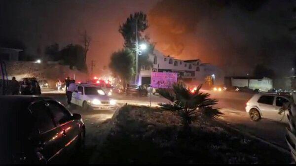 Ситуация рядом с местом взрыва на трубопроводе в штате Идальго, Мексика