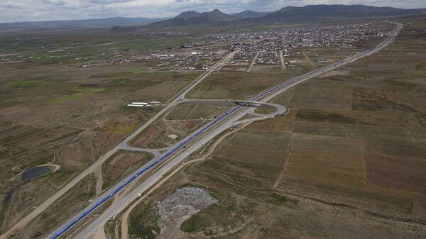 Шоссе между Оруро и Ла-Пасом Боливия