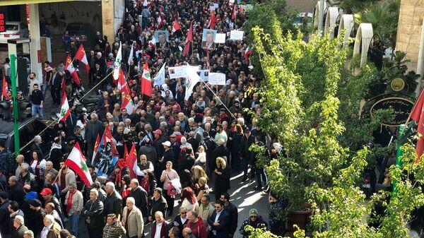 Участники демонстрации в Бейруте. 20 января 2019