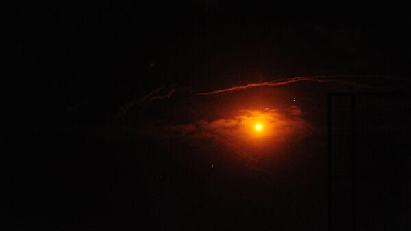 Cирийские средства ПВО отражают удар израильской армии