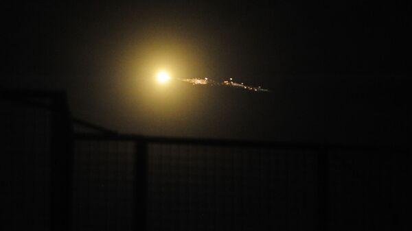 Cирийские средства противовоздушной обороны отражают удар израильской армии. 21 января 2019