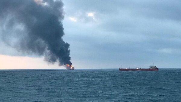Пожар на газовых танкерах в Черном море