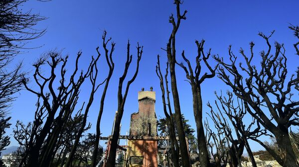 Сгоревший дом в Малибу, штат Калифорния
