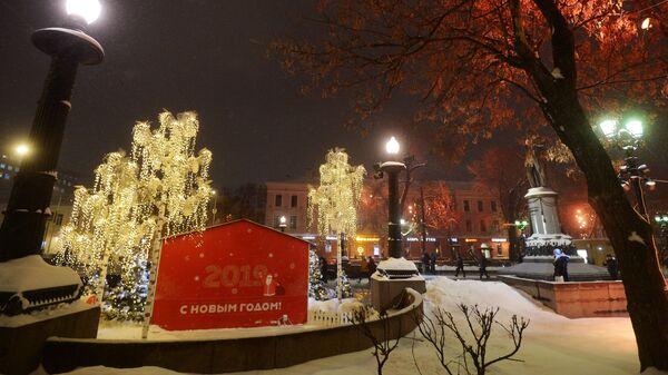 Новогоднее украшение Москвы