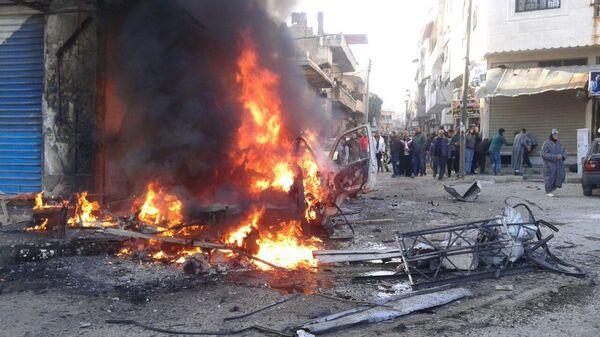 Взрыв заминированного автомобиля в Сирии