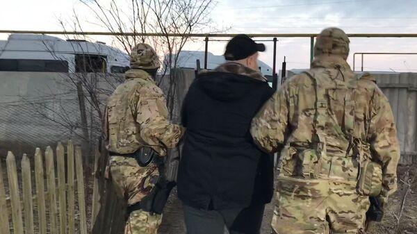Кадры задержания участника созданного на Украине крымско-татарского батальона