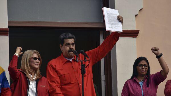 Президент Венесуэлы Николас Мадуро объявляет о высылке американских дипломатов. 23 января 2019 года