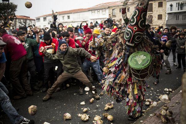 Фестиваль Jarramplas в Испании