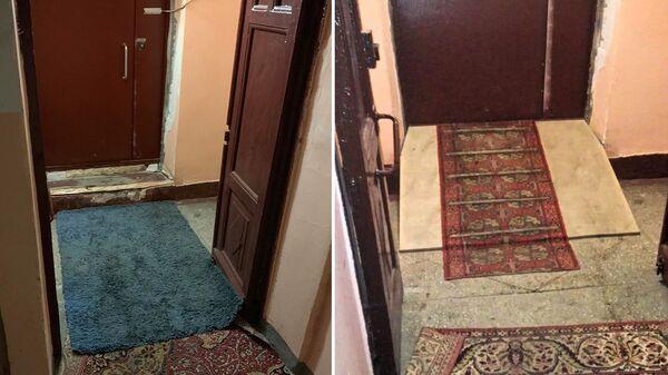 Сломанный и восстановленный пандус для ребенка-инвалида в доме на Авиамоторной в Москве