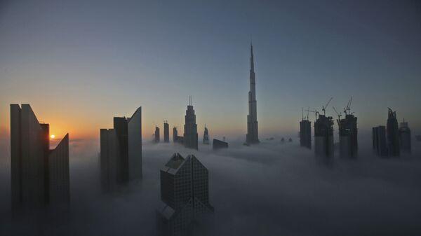 Сверхвысотный небоскреб Бурдж-Халифа в Дубае