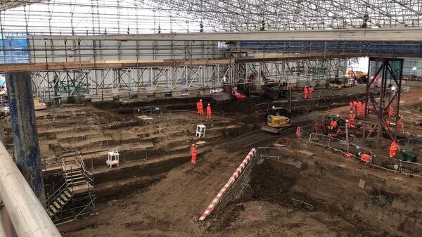 Участок под строительство  будущей скоростной линии High Speed 2 между Лондоном и Бирмингемом, где была обнаружена могила Мэтью Флиндерса