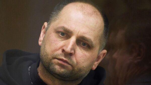 Сотрудник полиции городского округа Чехов Александр Манера, обвиняемый в превышении должностных полномочий, на заседании Бабушкинского суд. 25 января 2019