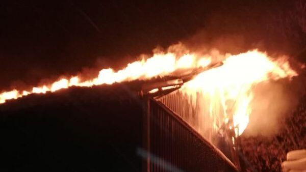 Пожар на птицефабрике в Сергиевом Посаде Московской области