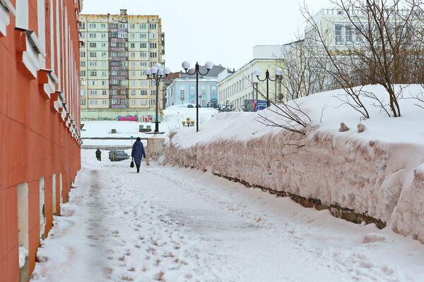 Майский снегопад в Норильске