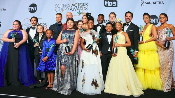 Актеры сериала Это мы на церемонии вручении премии Гильдии киноактеров США