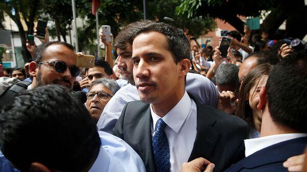 Лидер оппозиции Венесуэлы Хуан Гуаидо