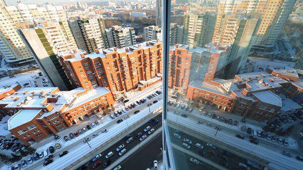 Вид на улицу Московскую в городе Екатеринбурге