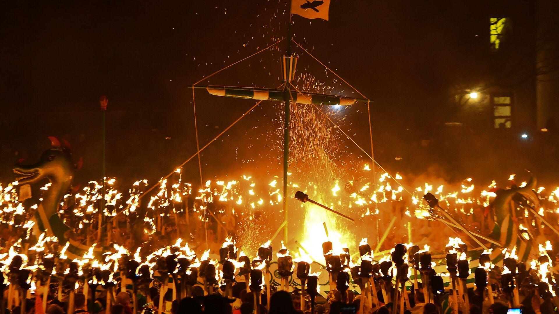 Фестиваль викингов на Шетландских островах - РИА Новости, 1920, 21.02.2021