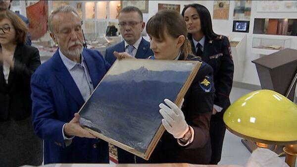 Церемония передачи похищенной картины Архипа Куинджи Ай-Петри. Крым