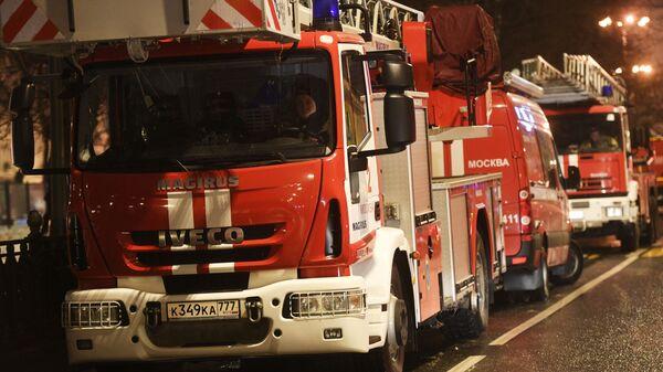 Пожар в жилом доме в центре Москвы