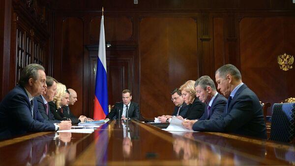 Дмитрий Медведев проводит совещание с вице-премьерами РФ. 4 февраля 2019