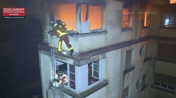 Пожар в жилом доме в Париже. 5 февраля 2019