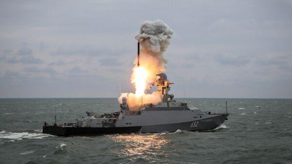 Запуск ракеты Калибр