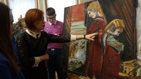 Наталья Шевченко рассказывает о картине Блокадный Ленинград