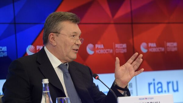 """Янукович назвал происходящее на Украине """"узаконенным терроризмом"""""""