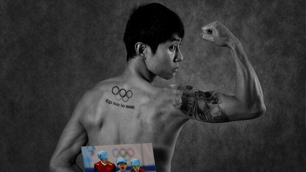 Виктор Ан во время фотосессии, посвященной пятилетию Олимпийских игр в Сочи