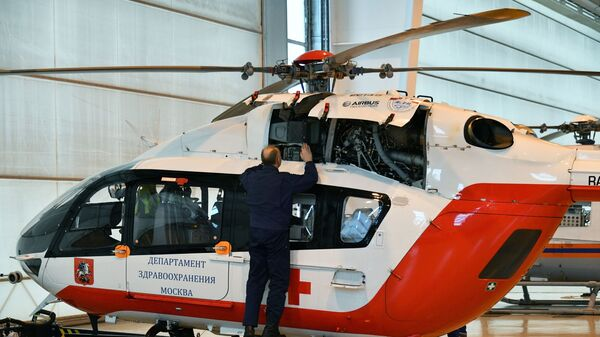 Вертолет Московского авиационного центра