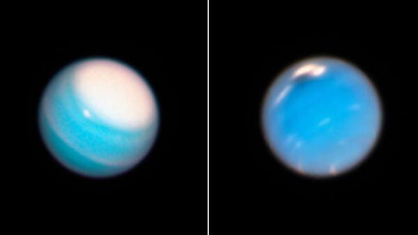 «Хаббл» наблюдает динамичные атмосферы Урана иНептуна