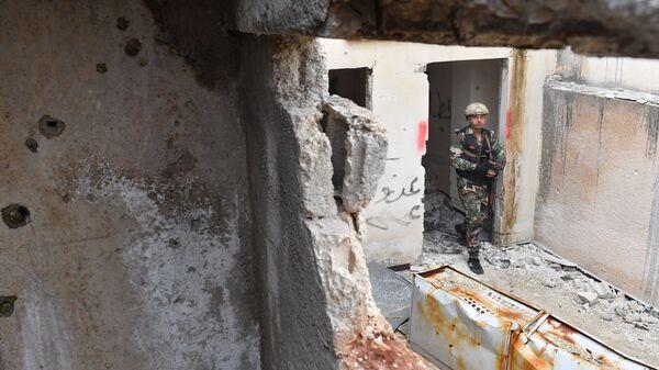 Сирийские военные в провинции Хама