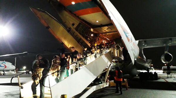 Спецрейс Ил-76 МЧС России, прибывший из Багдада в аэропорт Раменское с двадцатью семью российскими детьми. 10 февраля 2019