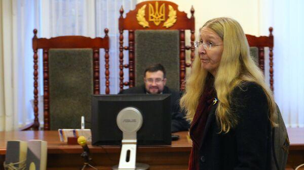 Исполняющий обязанности министра здравоохранения Украины Ульяна Супрун в окружном административном суде города Киева. 11 февраля 2019