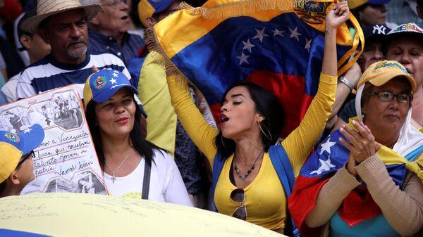 Акция, организованная сторонниками оппозиционного лидера Венесуэлы Хуана Гуаидо. 12 февраля 2019